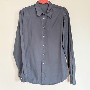Everlane Blue Poplin Cotton Button Shirt
